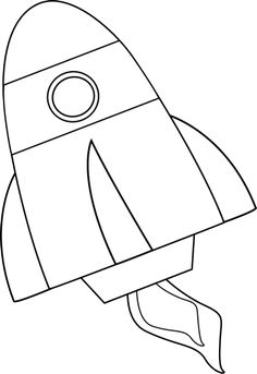 Rocket clipart black and white #15
