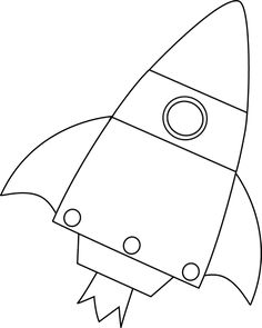 Rocket clipart black and white Girl Rocket Astronaut Off Black
