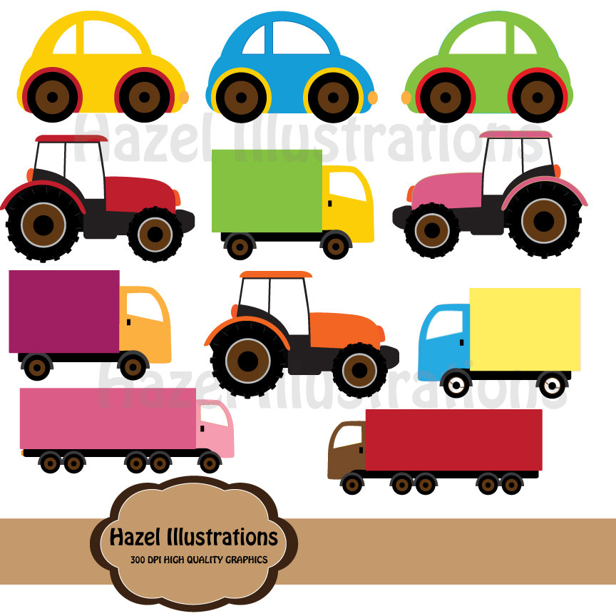 Toy clipart big car #2
