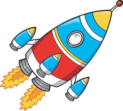 Rocket clipart cartoon 187 vector Free rocket for