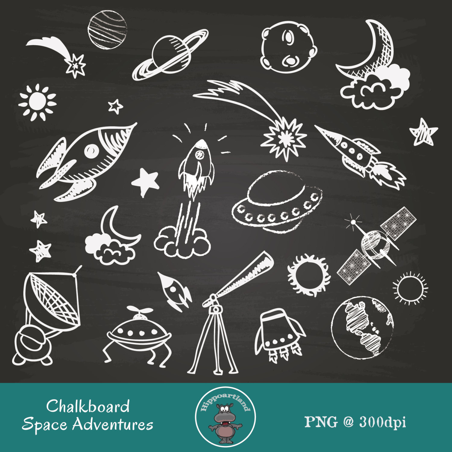 Adventure clipart outer space & Rockets by Curio Space