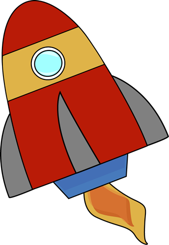 Missile clipart cute Rocket Red rocket Aplique Red