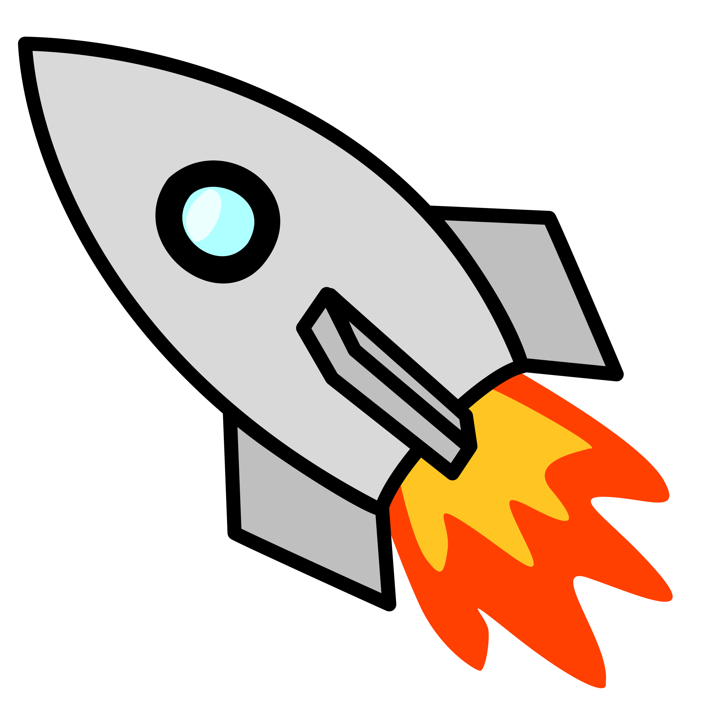 Galaxy clipart space rocket #15