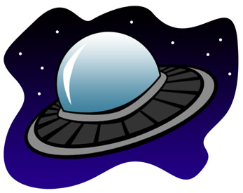 Sci Fi clipart cute alien spaceship #6