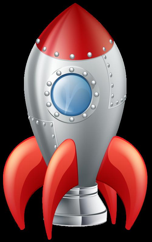 Rocket clipart cute alien spaceship #14