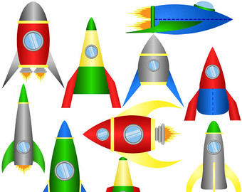 Rocket clipart face DOWNLOAD clip set 10 designs