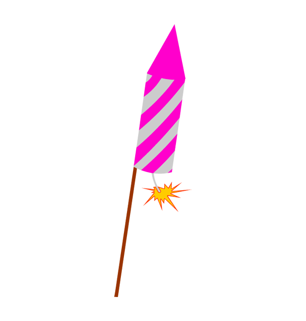 Celebration clipart firework rocket Firework year celebration art new