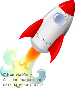 Rocket clipart liftoff Art Off Rocketship a Image