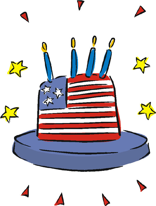 Birthday clipart 4th july Clipart red Art: picuture birthday