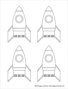 Rocket clipart plain Rocket straw template and com