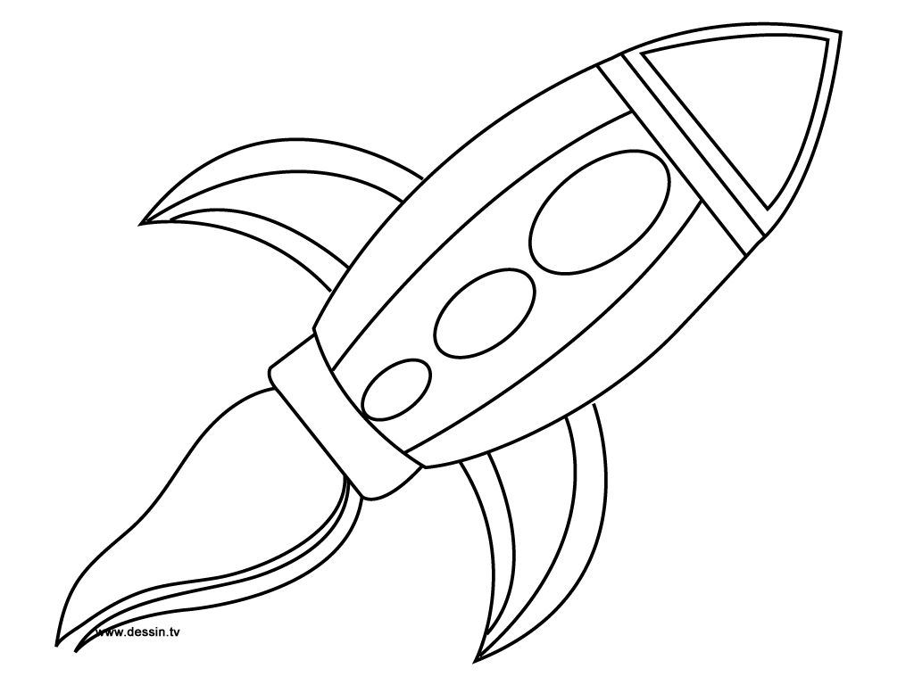 Drawn spaceship outer space Outline Outline Free Retro Clip