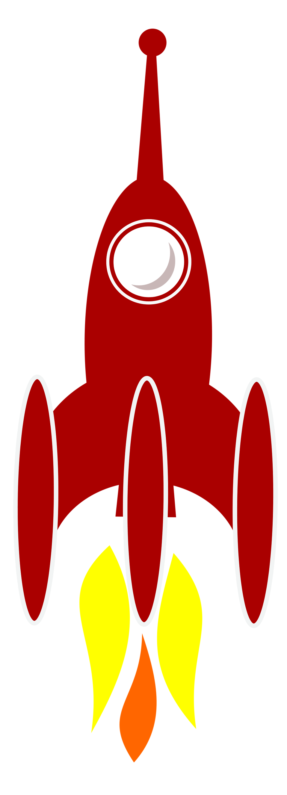 Rocket clipart red rocket : a a Photo red