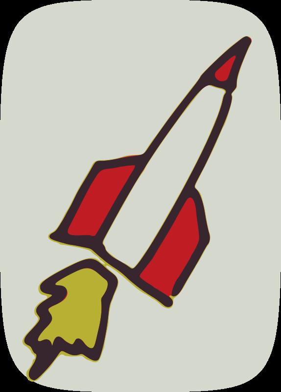 Rocket clipart red rocket #12