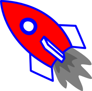Rocket clipart red rocket #2