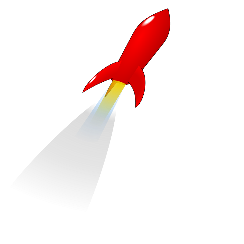 Rocket clipart red rocket #6