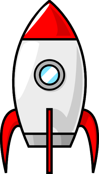 Simple clipart spaceship Large Rocket royalty art Clker