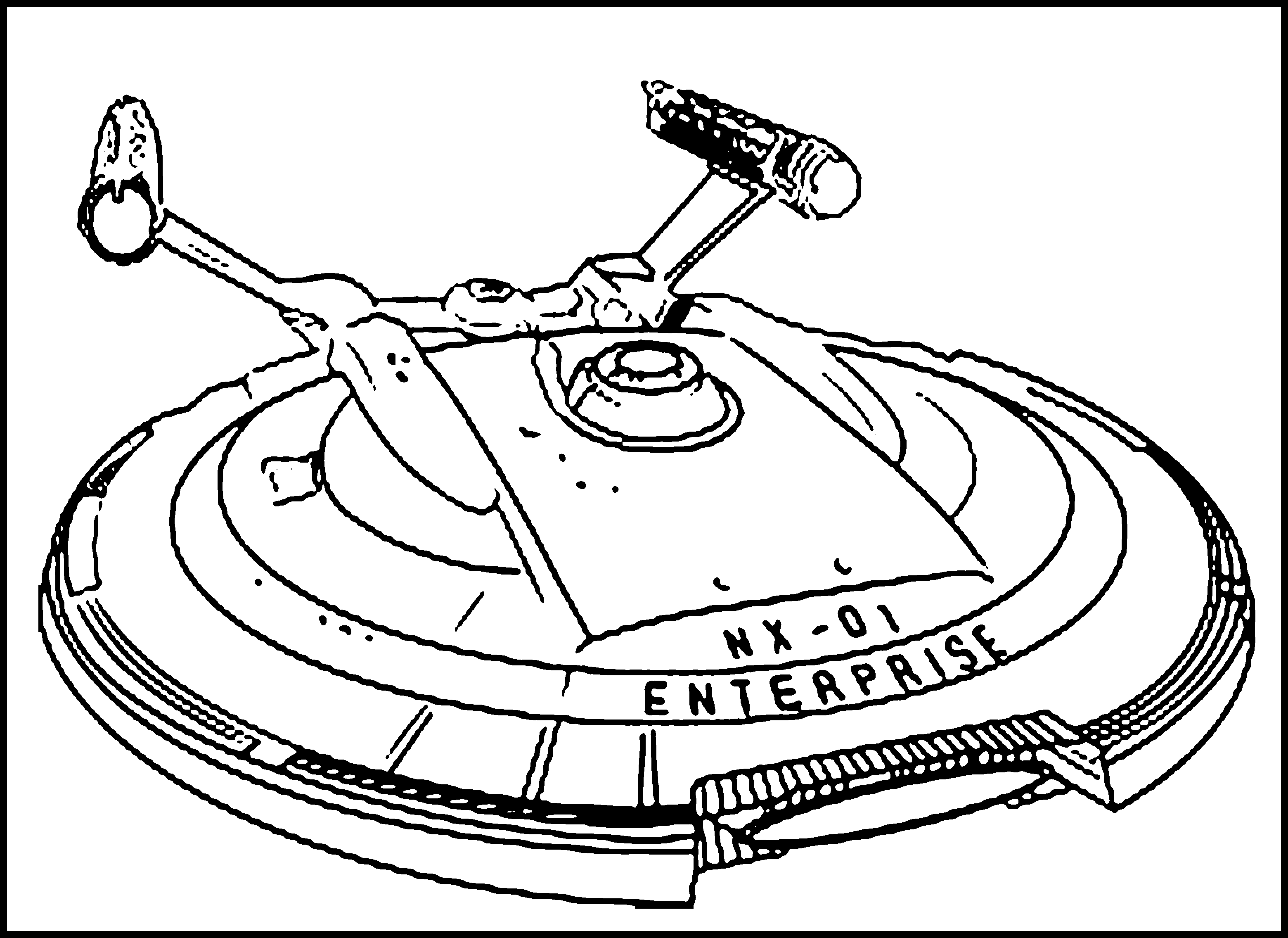 Drawn spaceship outer space Coloring Coloring Printable Page Spaceship