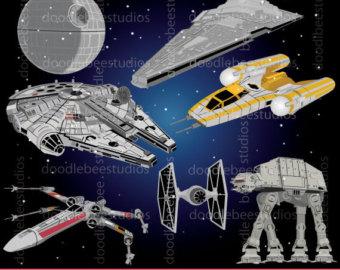 Rocket clipart star wars spaceship Spaceships Etsy Star Star Air