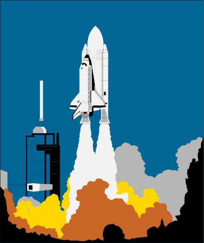 Rocket clipart takeoff #2