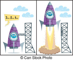 Rocket clipart takeoff #3