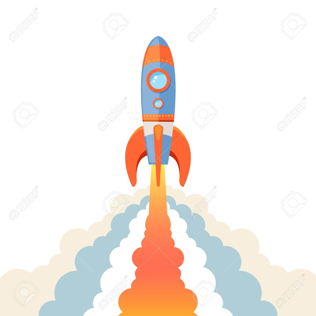 Rocket clipart takeoff #5