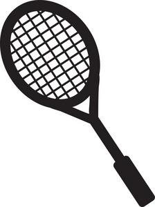 Rocket clipart tennis #1