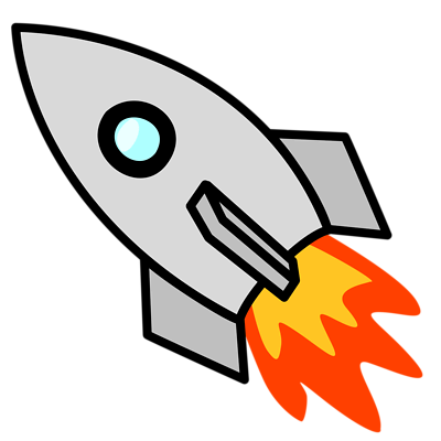 Rocket clipart transparent background #2