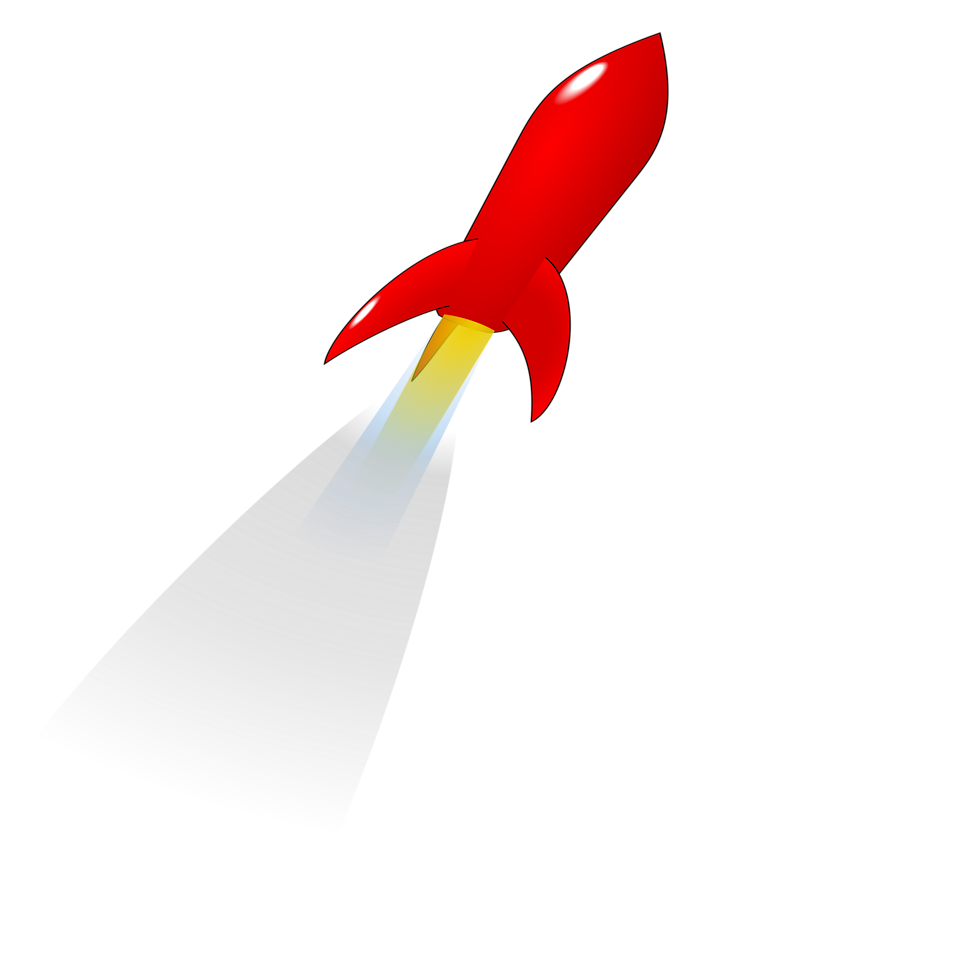 Rocket clipart transparent background #15