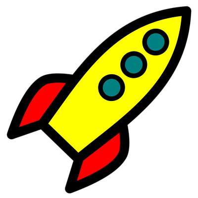 Rocket clipart transparent background #8