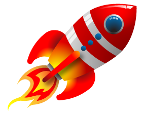 Rocket clipart transparent background #10