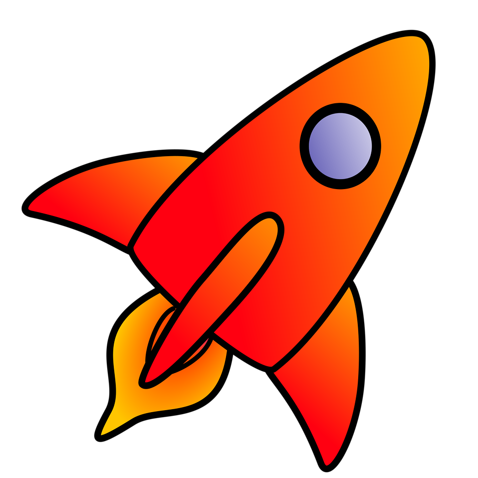 Rocket clipart transparent background #6