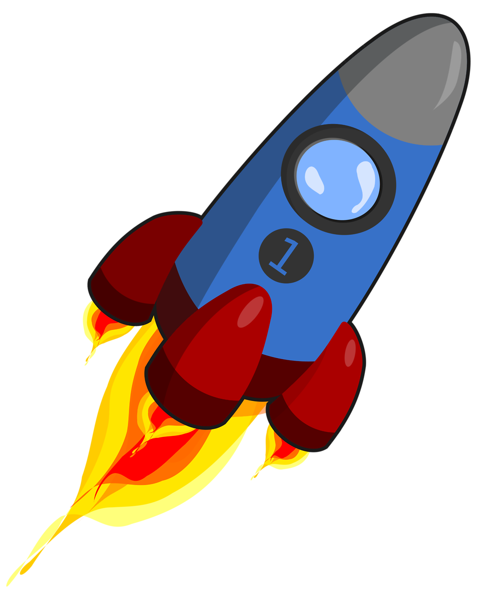 Rocket clipart transparent background #7