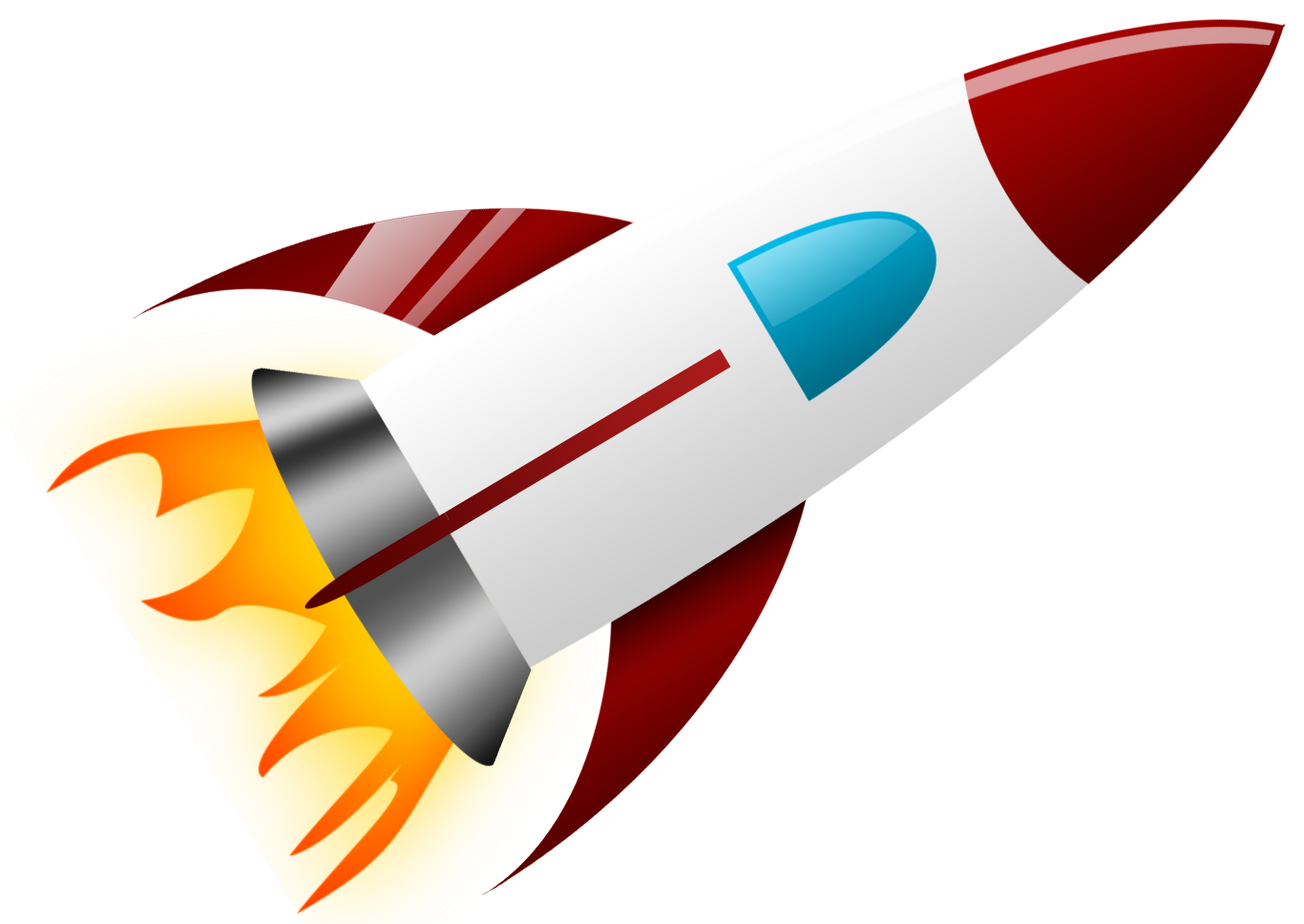 Rocket clipart transparent background #9