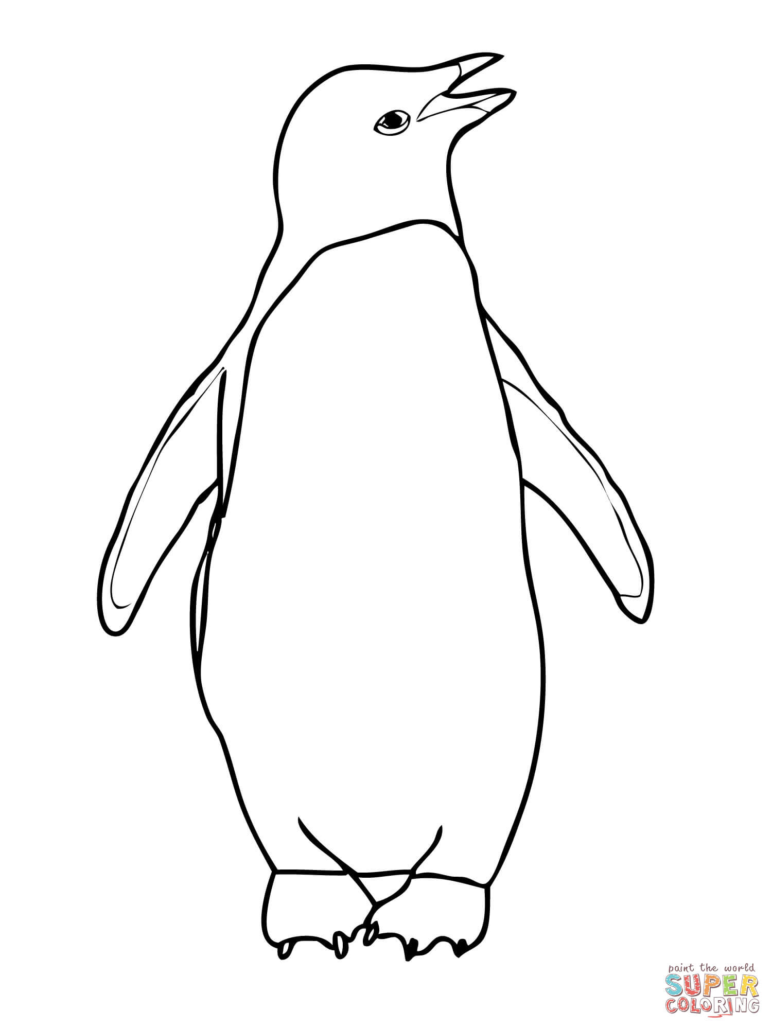 Color clipart penguin Drawings coloring Penguin Penguin coloring