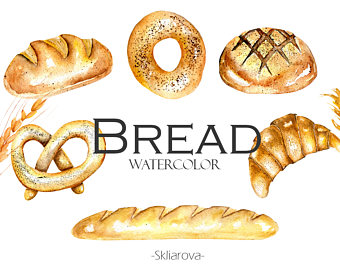 Denmark clipart bread roll Bread Digital Etsy digital product