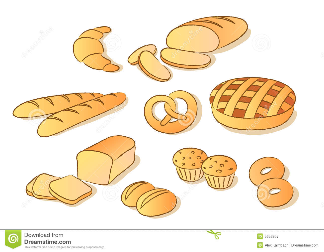 Bread Roll clipart french pastry Art Bread Clipart Images Panda
