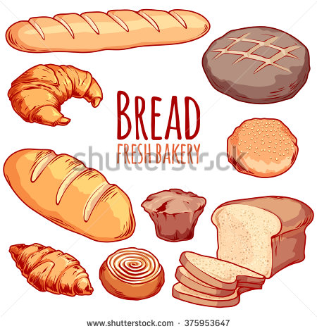 Drawn bread animated Bakery muffin 55% of Watercolor