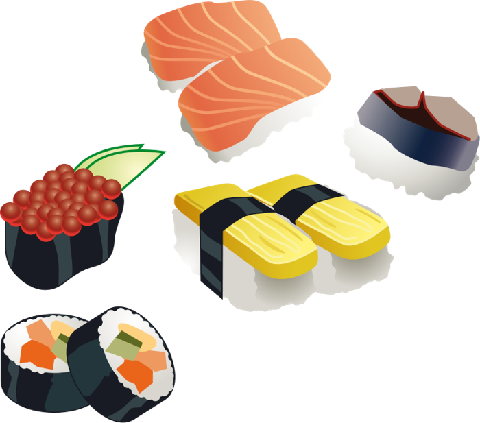 Noodle clipart japanese restaurant Sushi of Japanese Clipart Variety