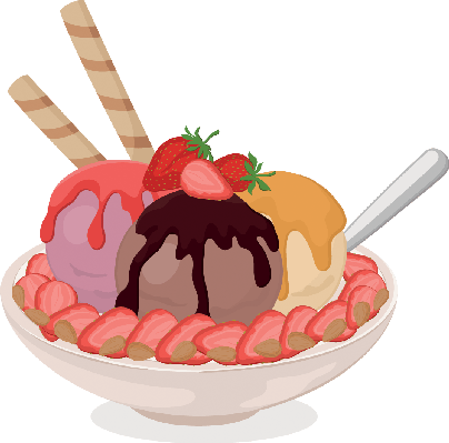 Rolls clipart dessert And Cream Clipart Wafers Strawberries