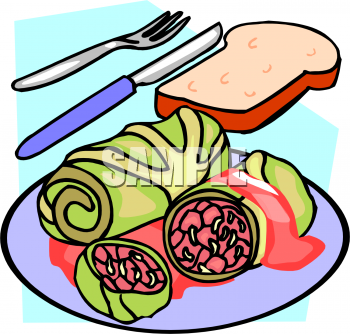 Cabbage clipart corn beef cabbage Picture of Rolls foodclipart com