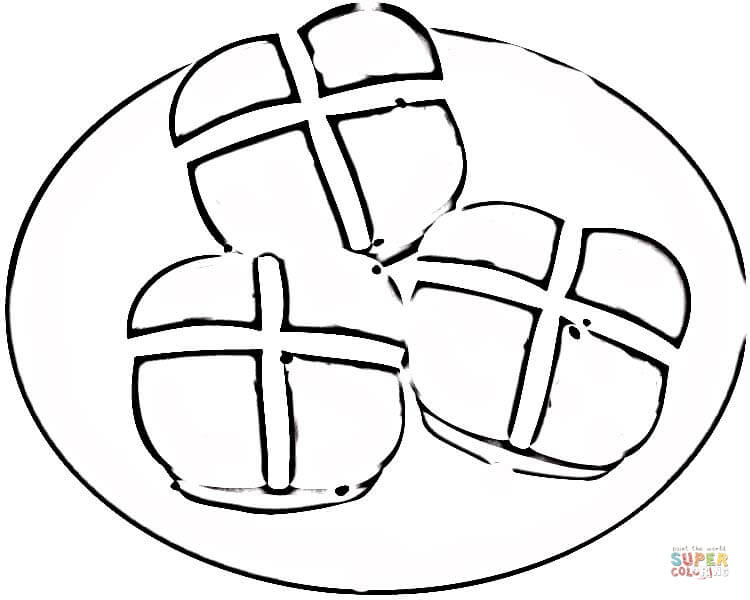 Bread Roll clipart coloring page The Hot Hot Click coloring