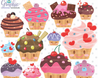 Blueberry Muffin clipart small cake Kawaii Muffin Cupcake Clipart Clipart