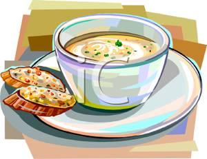 Rolls clipart soup bread #11