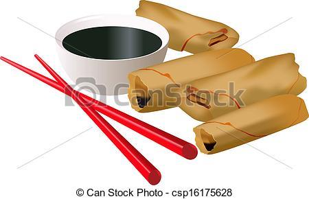 Rolls clipart spring rolls Vector Search spring Illustration Vector