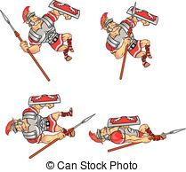 Roman Warriors clipart animated Animation Soldier Clip of of