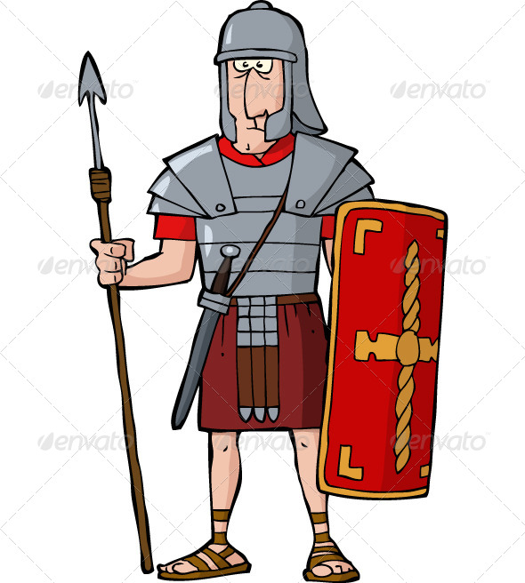 Roman Warriors clipart animated Roman Legionary Vector Font Roman