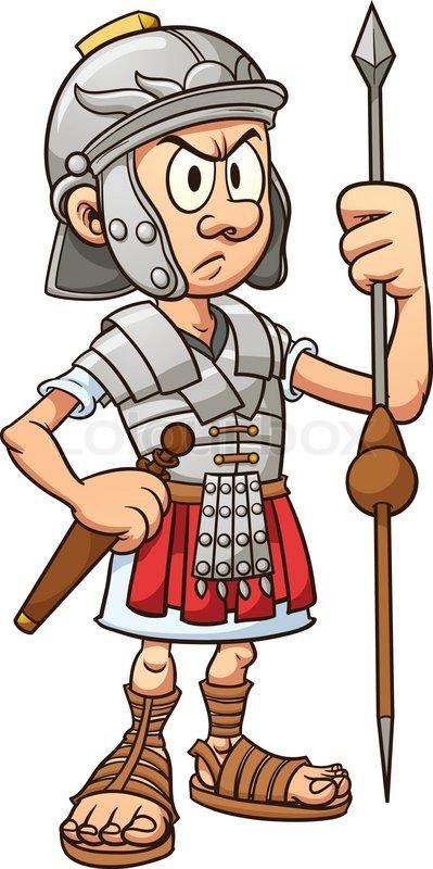 Roman Warriors clipart animated Vektor Stock 'Roman_soldiereps' Roman Cartoon