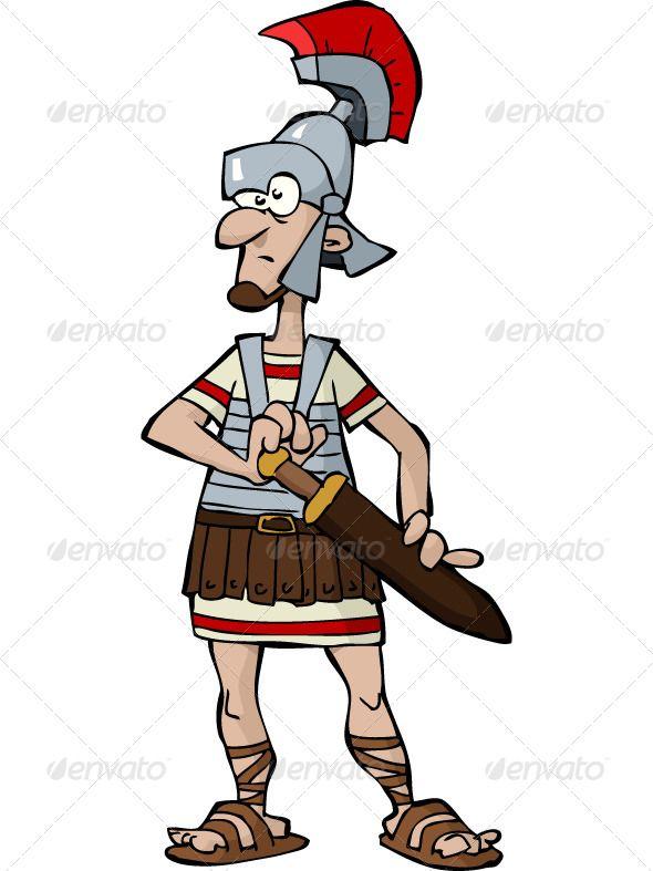 Roman Warriors clipart animated SandalsMale Roman 9 about Legionnaire