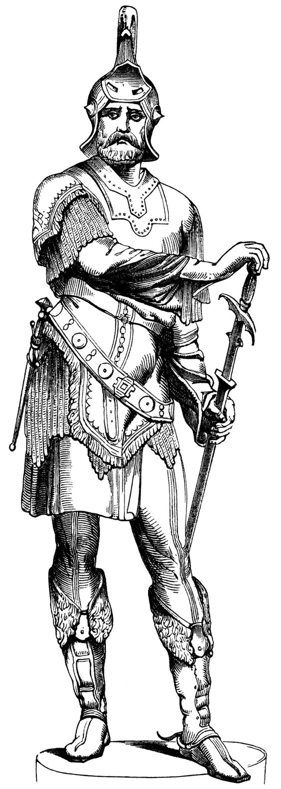 Roman Warriors clipart black and white Soldier graphics art illustration clip