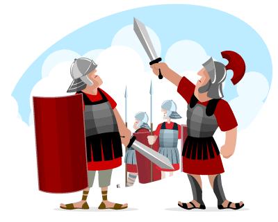 Rome clipart roman soldier #12